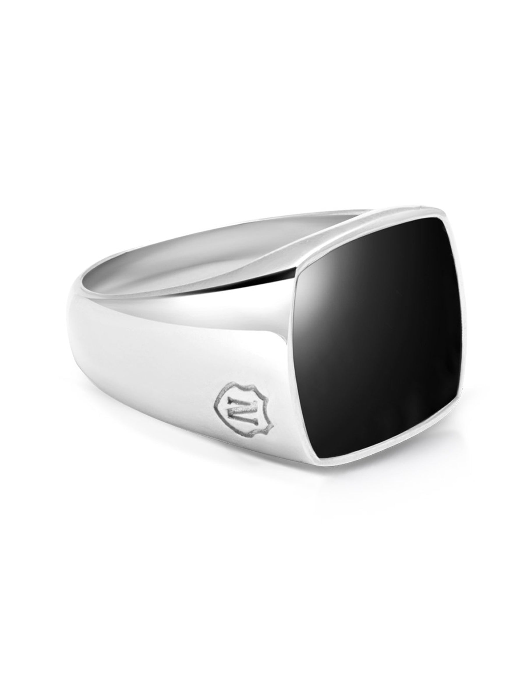 PRE-ORDER: Men's Silver Cocktail Ring with Onyx