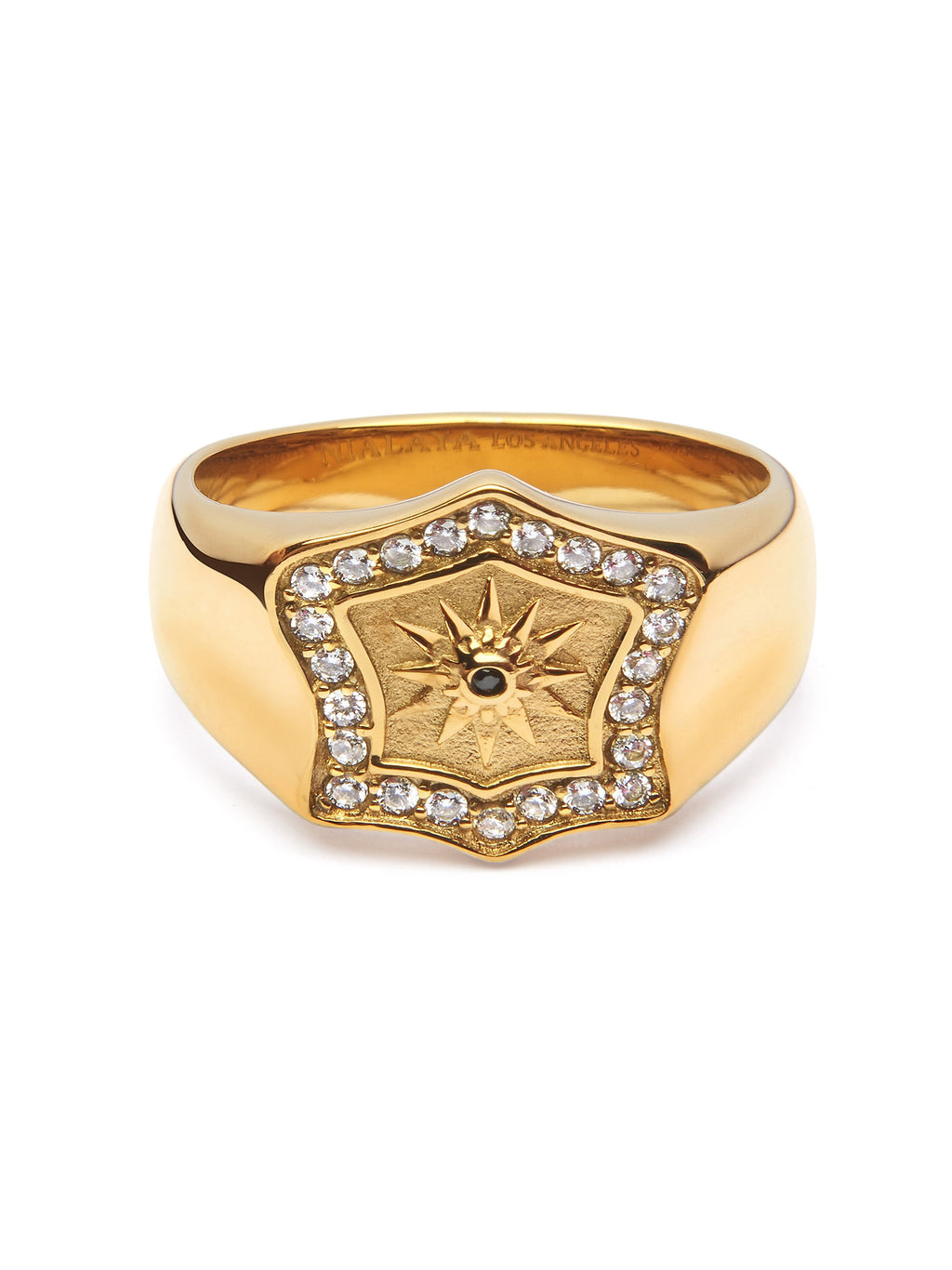 Men's Golden Shield Ring