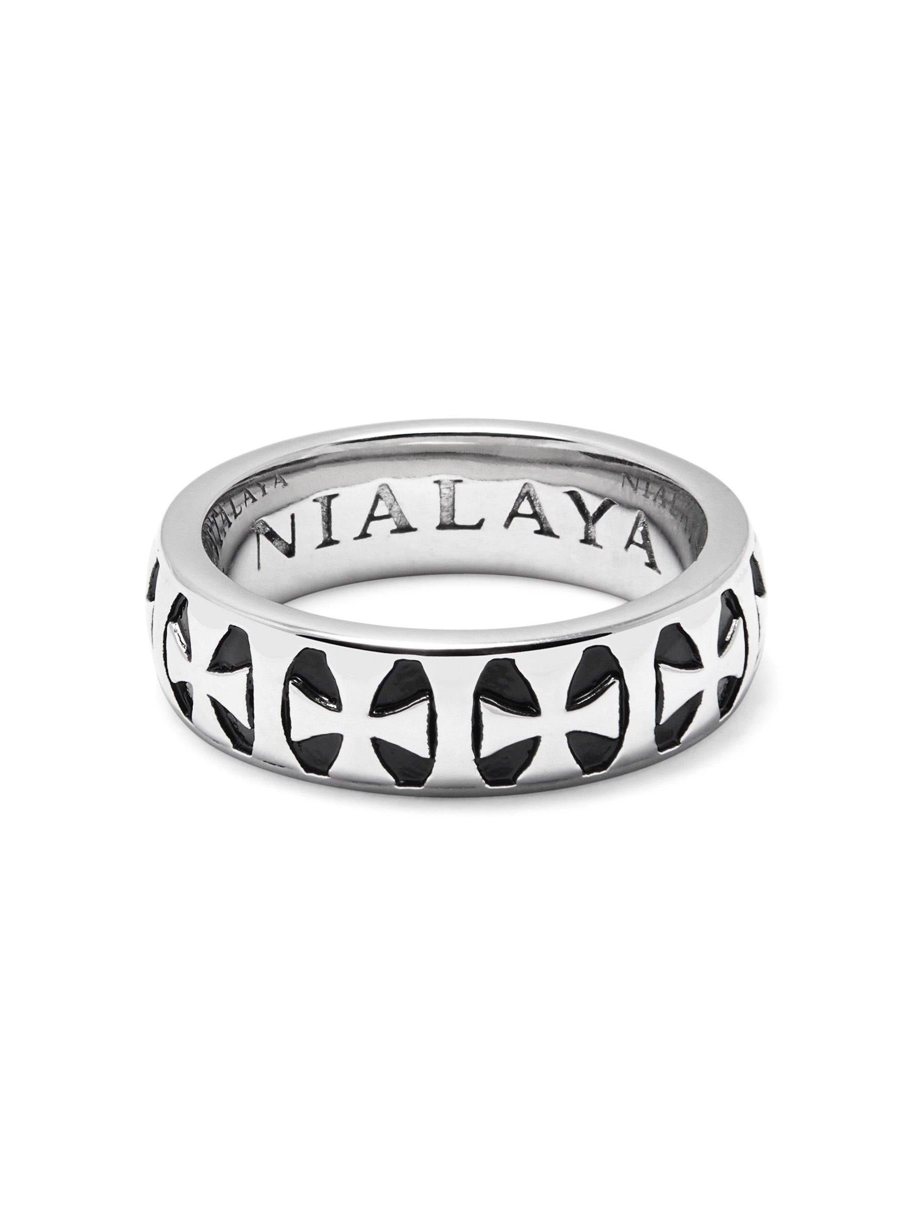 Men's Silver Iron Cross Ring