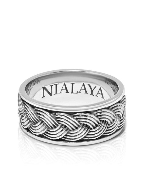 Men's Silver Cable Ring