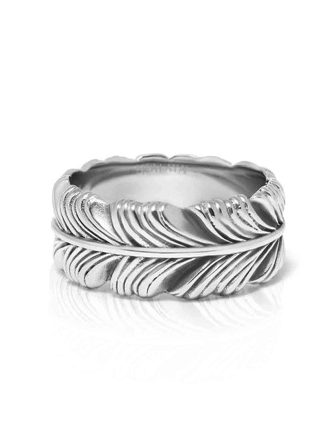 Men's Feather Ring - NIALAYA INC
