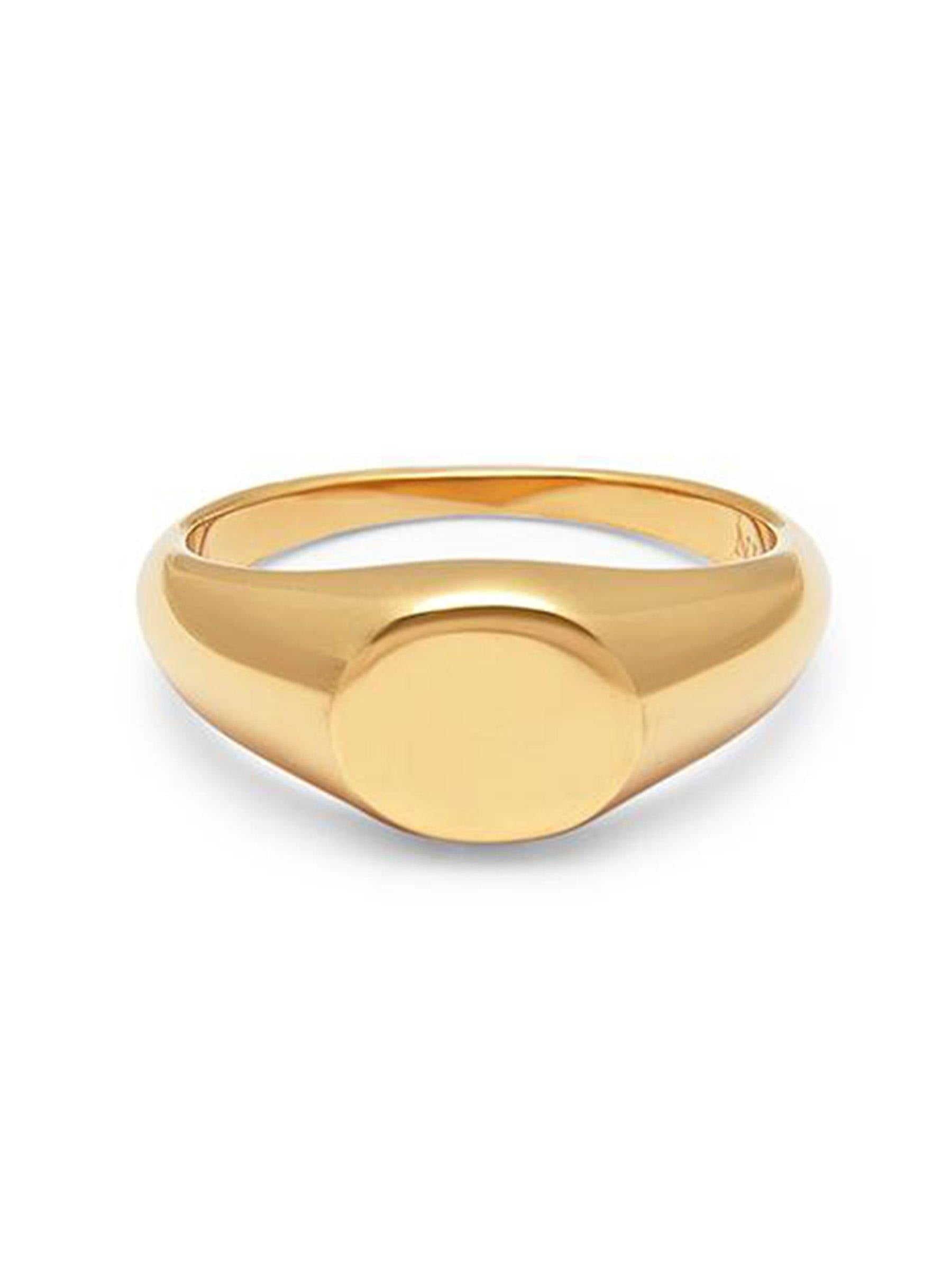Men's Gold Mini Signet Ring - Nialaya Jewelry