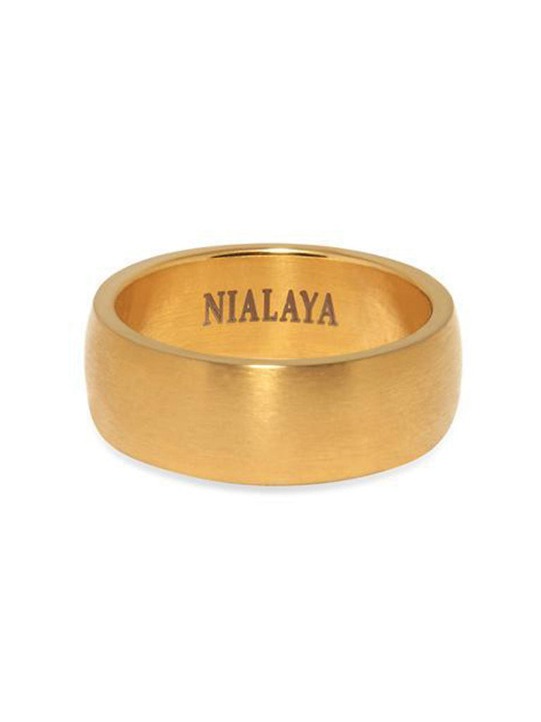 Men's Brushed Gold Ring