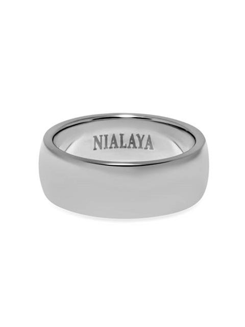 Men's Polished Silver Ring - Nialaya Jewelry