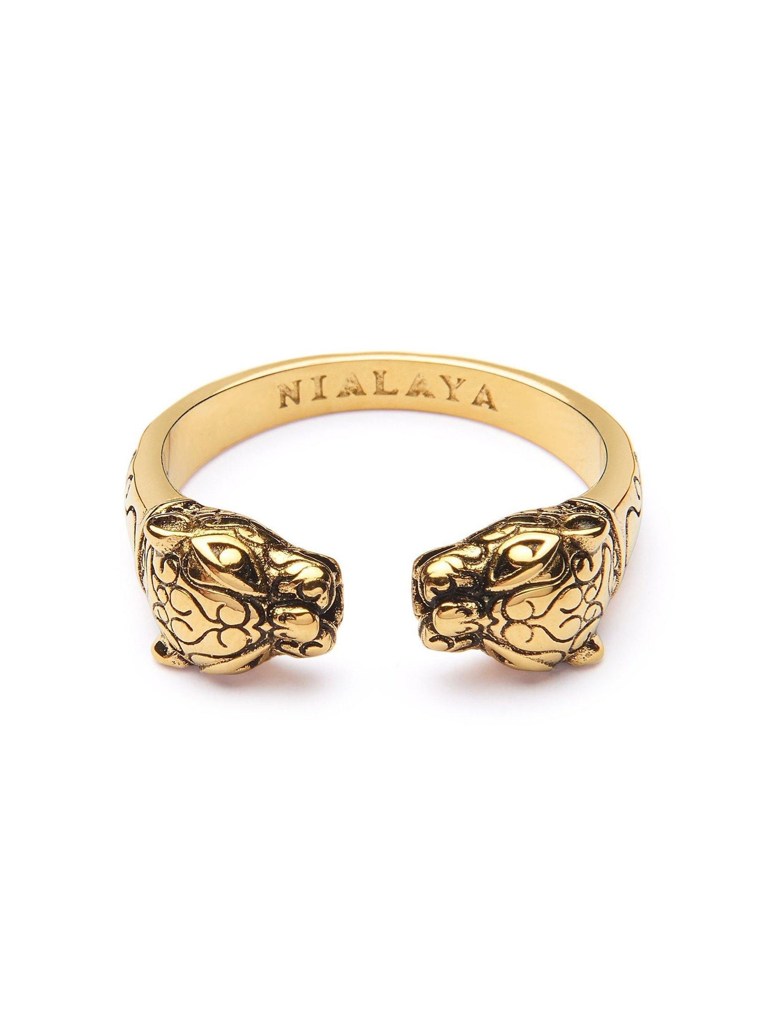 Men's Gold Panther Ring - Nialaya Jewelry