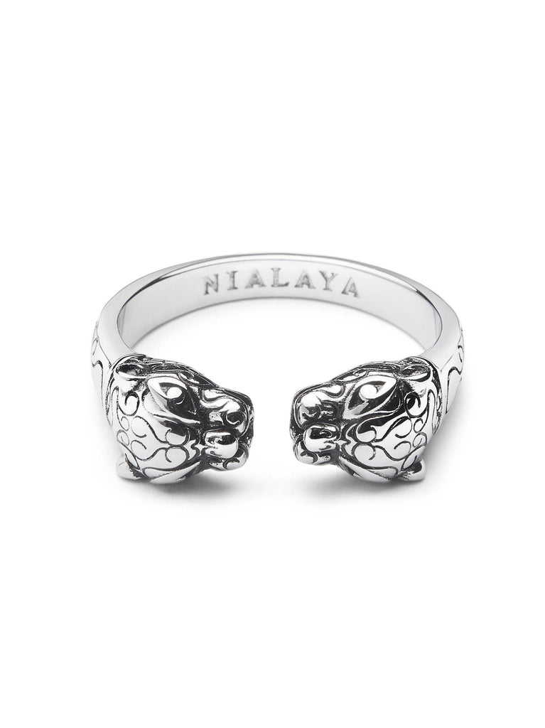 Men's Silver Panther Ring