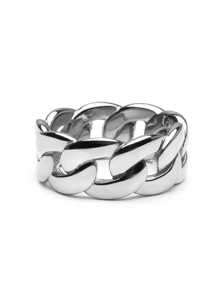 Men's Silver Chain Ring - Nialaya Jewelry