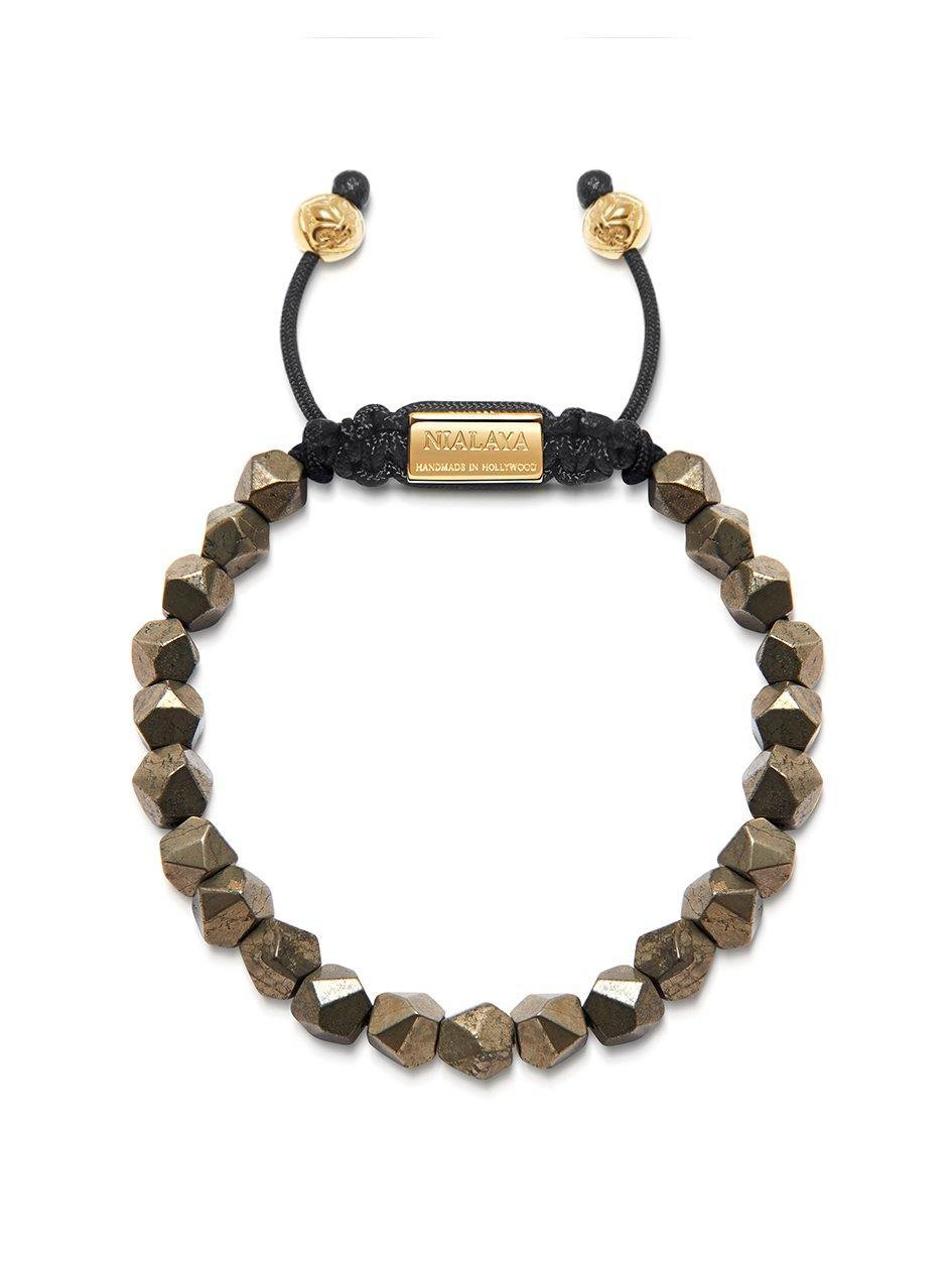 The Squared Bead Collection - Faceted Iron Pyrite