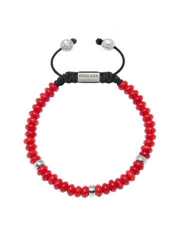 The Mykonos Collection - Red Coral and Silver