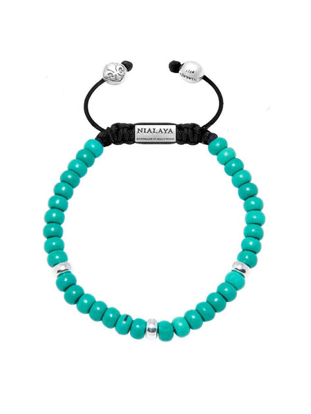 The Mykonos Collection -  Turquoise and Silver - Nialaya Jewelry  - 1