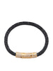 Men's Black Stingray Bracelet with Gold CZ Diamond Lock - Nialaya Jewelry  - 1
