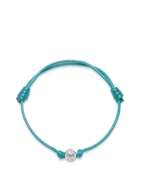 Men's Turquoise String Bracelet with Silver