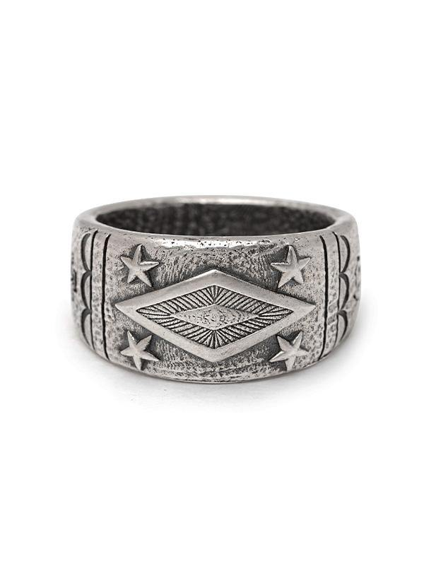 Men's Engraved Vintage Sterling Silver Ring - Nialaya Jewelry