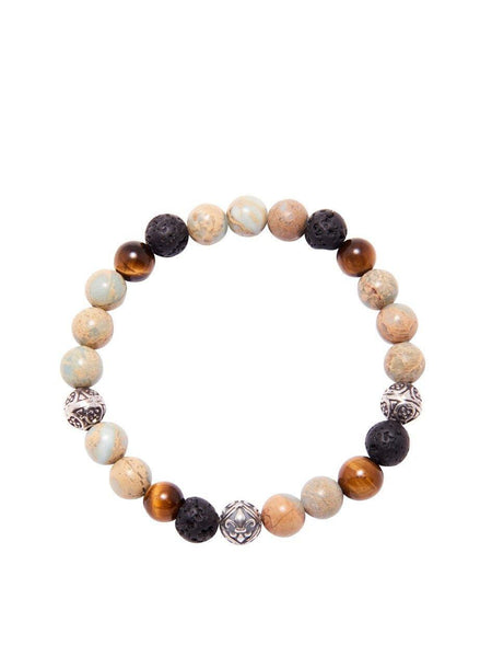 Men's Beaded Bracelet with Opal - Nialaya Jewelry