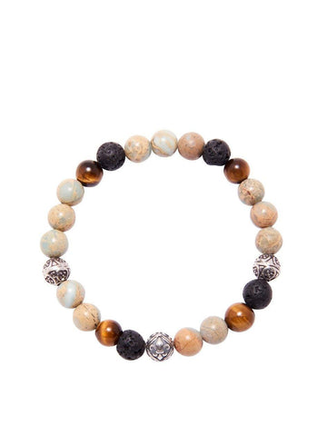 Men's Beaded Bracelet with Opal