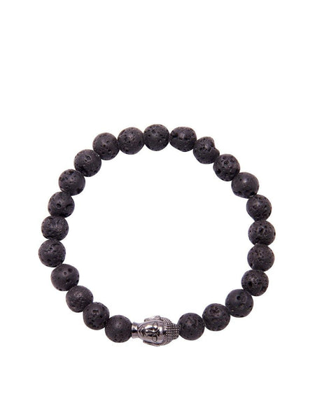 Men's Beaded Bracelet with Buddha Head - Nialaya Jewelry