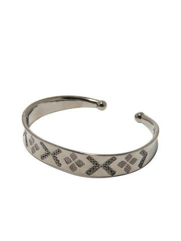 Men's Bangle in Rhodium