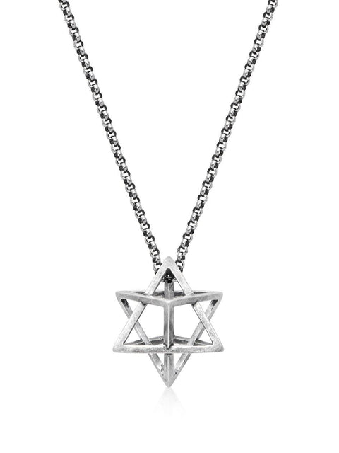 Men's Silver Star Necklace