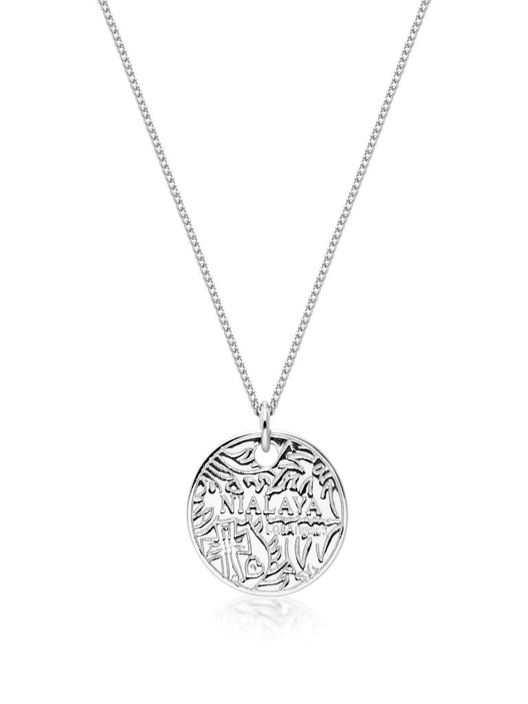 Men's Silver Coin Necklace