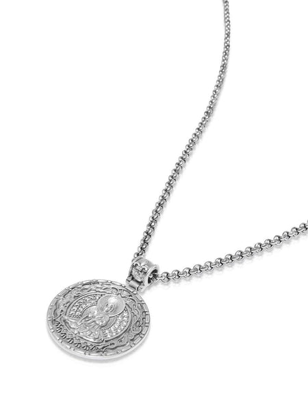 Men's Necklace with Silver Buddha Amulet