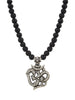 Necklace w. Vintage Silver Ohm Pendant - Nialaya Jewelry  - 1