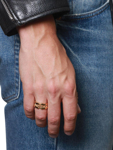 Men's Gold Cross Cut-Out Ring - Nialaya Jewelry  - 2