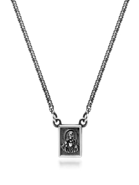 Men's Silver Scapular Necklace