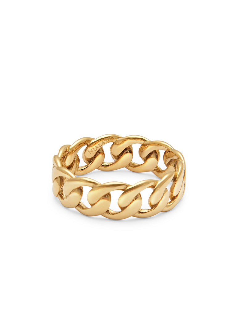 Skyfall Chain Ring in Gold - Nialaya Jewelry