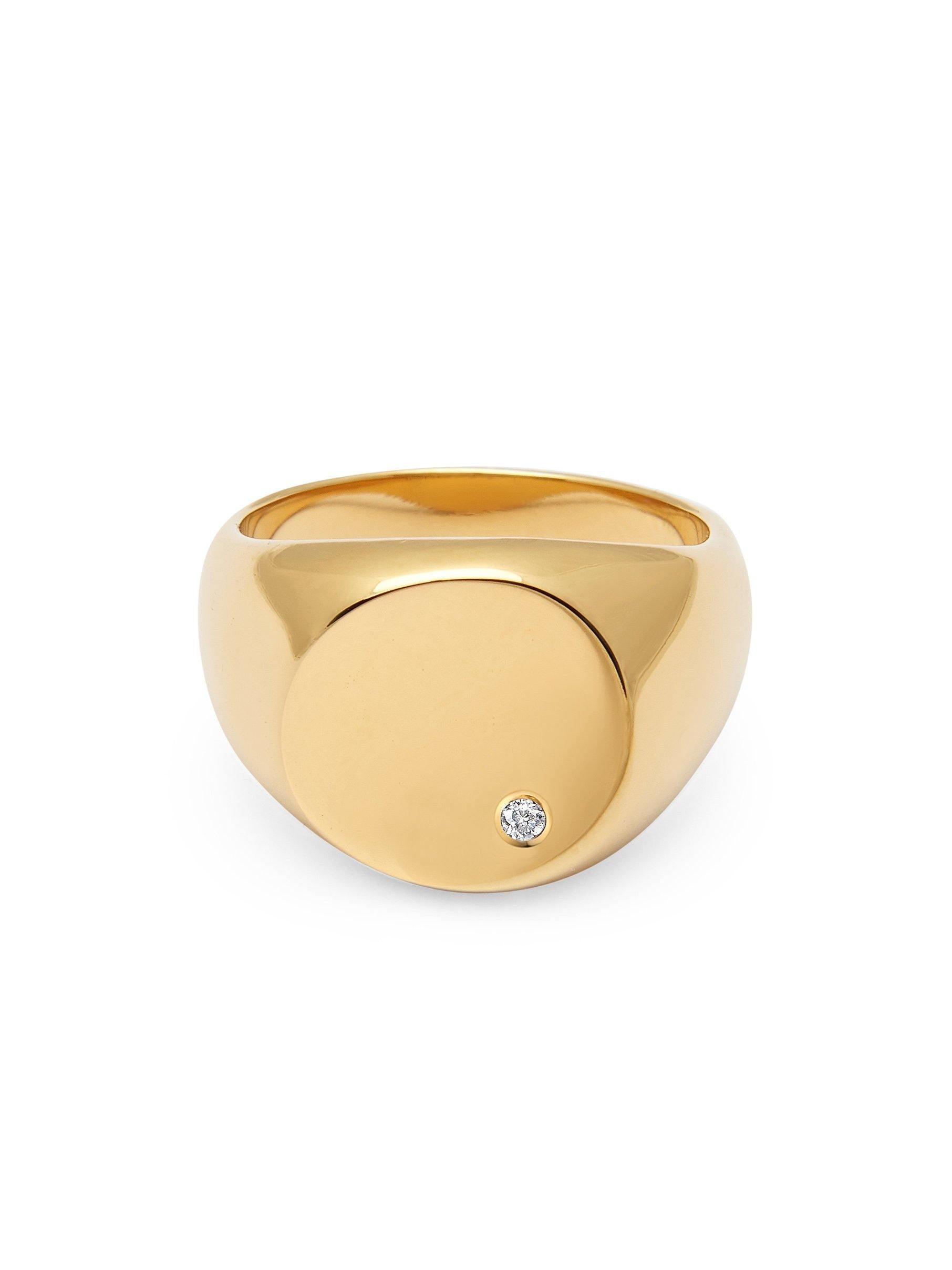 Skyfall Large Signet Ring - Nialaya Jewelry