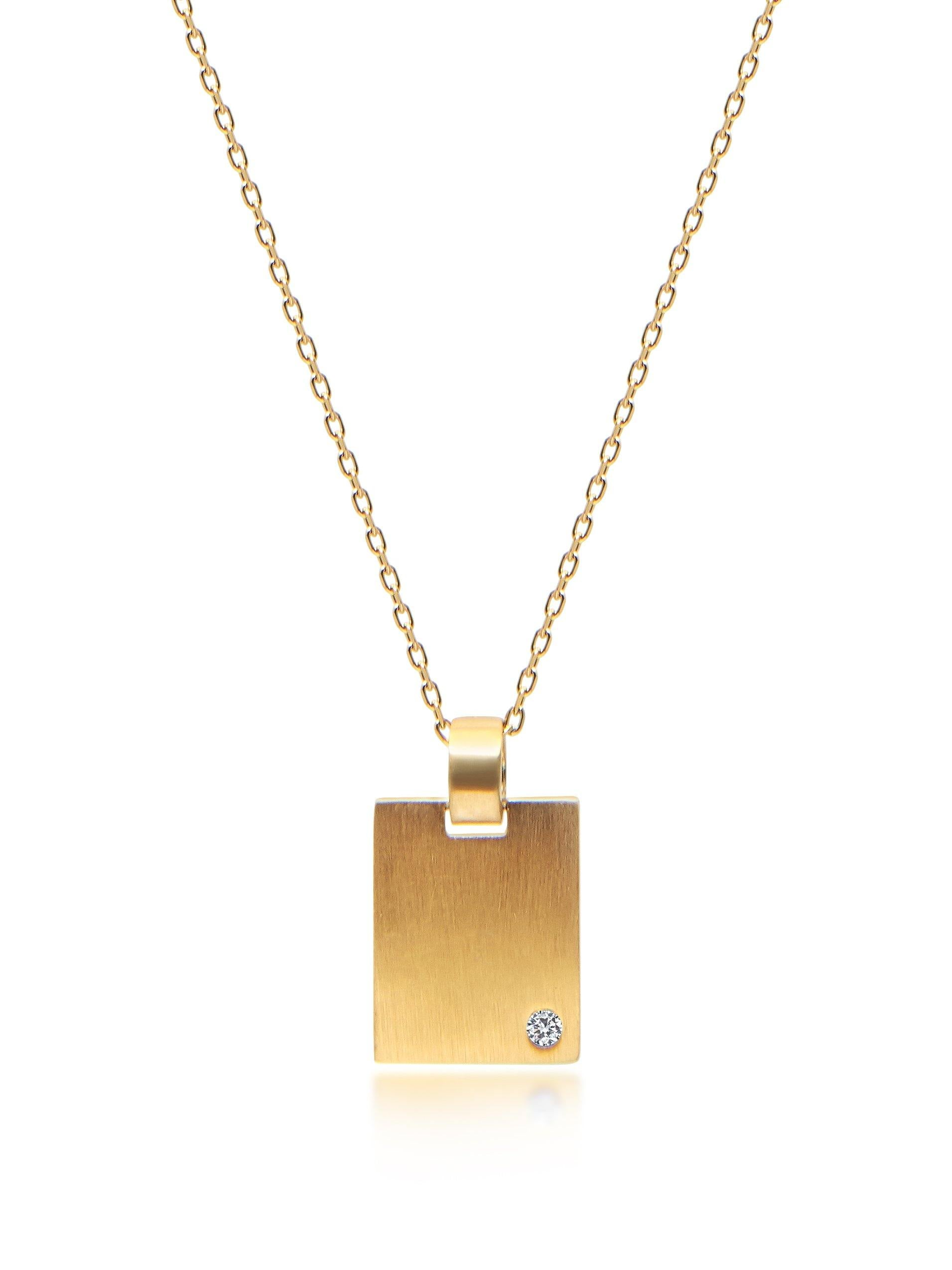 Skyfall Gold Dog Tag Necklace