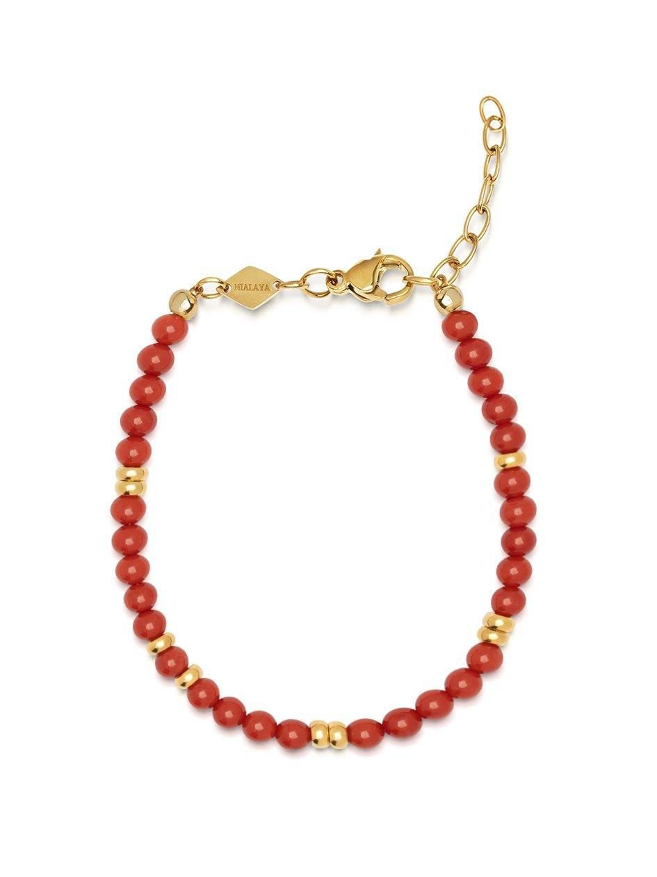 The Capri Collection - Red Jade - NIALAYA INC