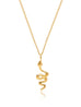 Gold Necklace with Mini Snake Pendant