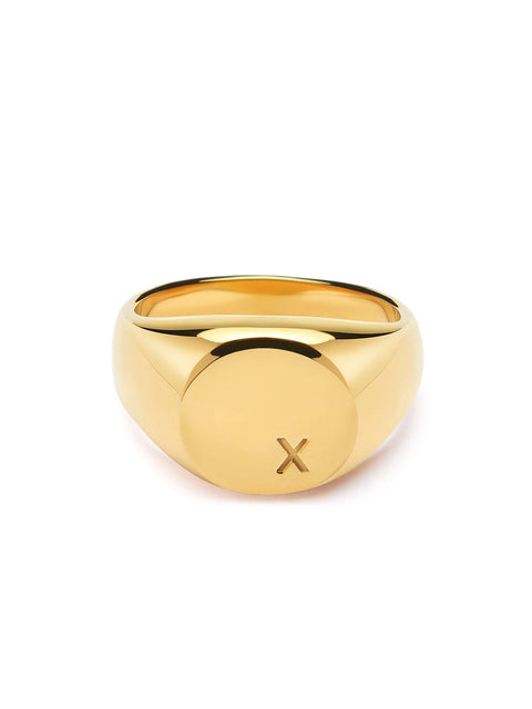 Women's Limited Edition X Engraved Ring - Nialaya Jewelry