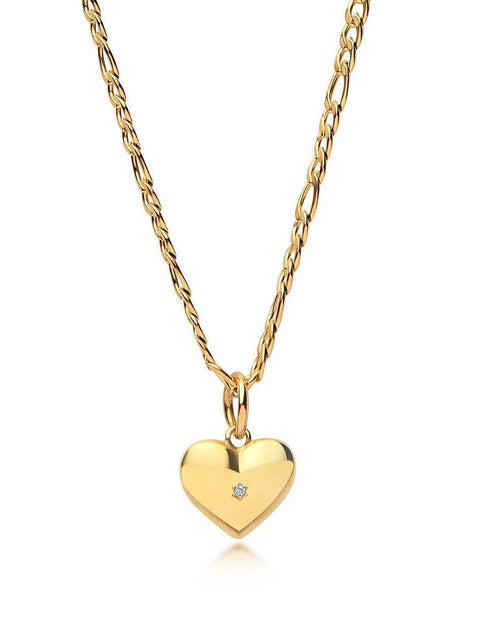 Skyfall Heart Necklace in Gold - Nialaya Jewelry