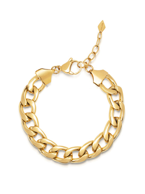 Women's Chunky Chain Bracelet in Gold