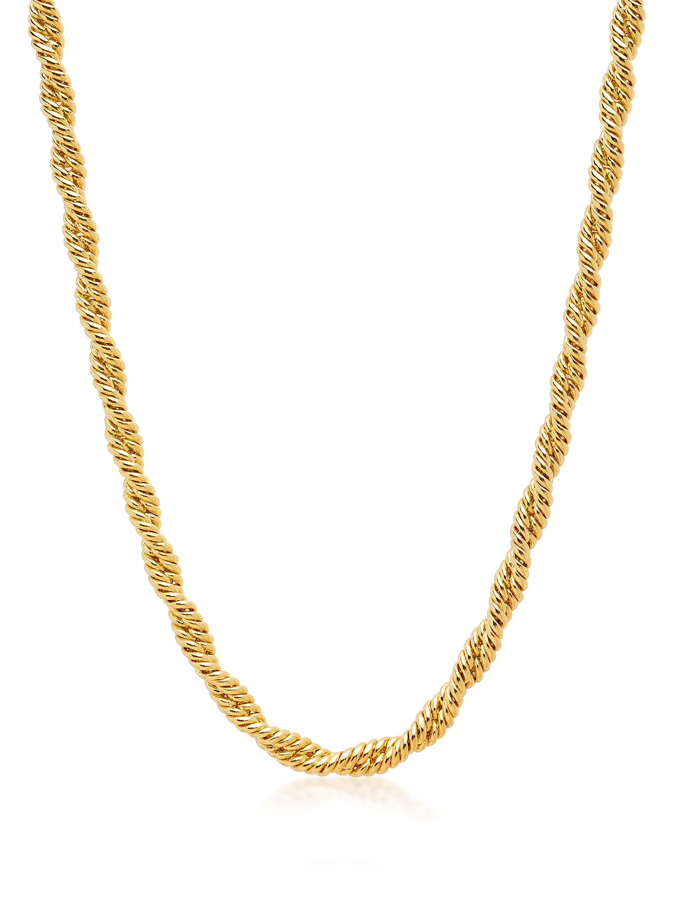 Chunky Gold Rope Necklace