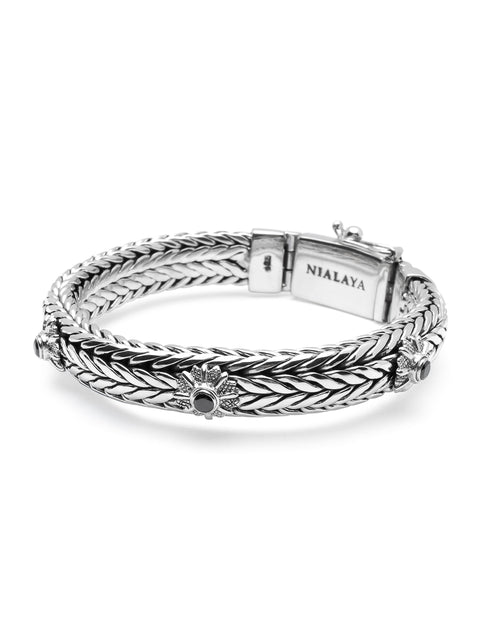 Men's Silver Star Chain Bracelet