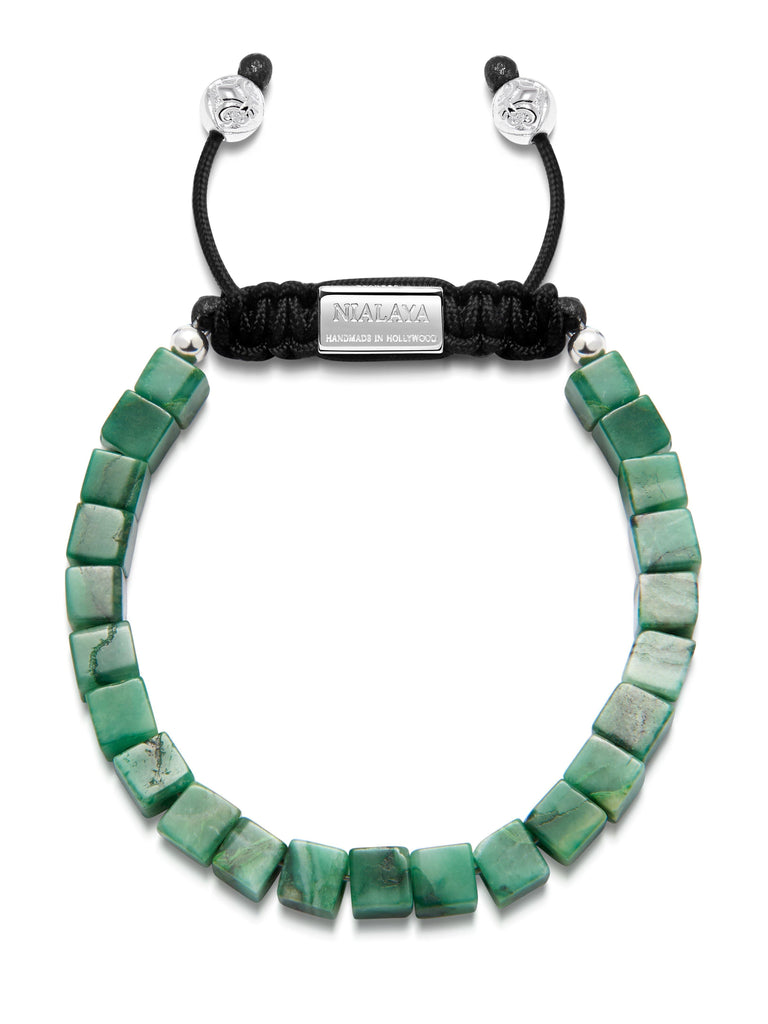 The Squared Bead Collection - African Green Jade
