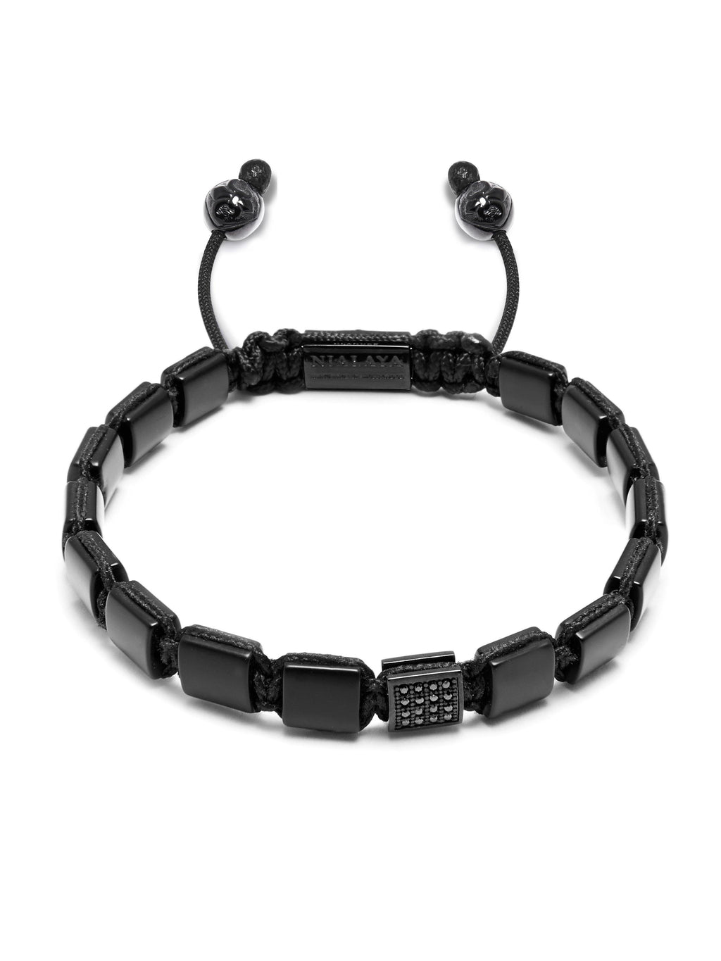 The Mini Flatbead Collection - Matte Onyx and Black CZ