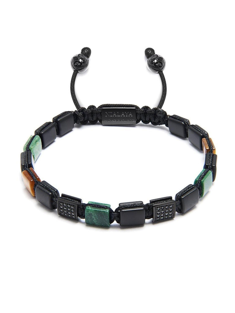 The Mini Flatbead Collection - Matte Onyx, African Green Jade and Brown Tiger Eye
