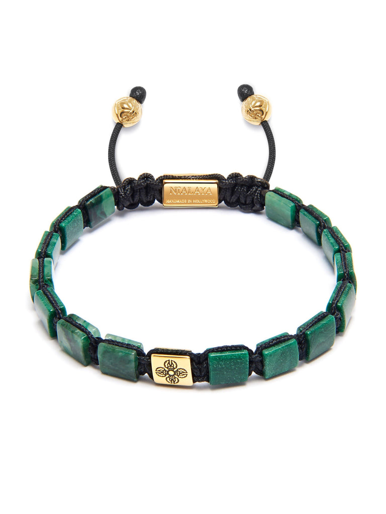 The Mini Flatbead Collection - African Green Jade and Gold