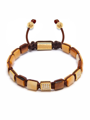 Women's Mini Flatbead Collection - Brown Tiger Eye and Gold