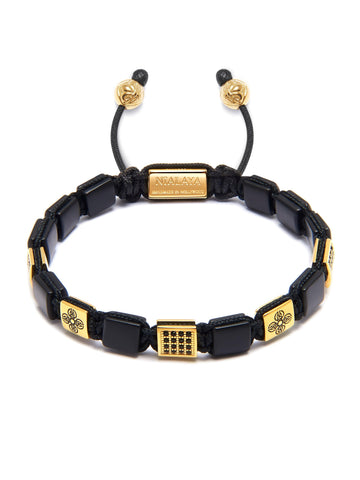 Women's Mini Flatbead Collection - Matte Onyx and Gold/Black CZ
