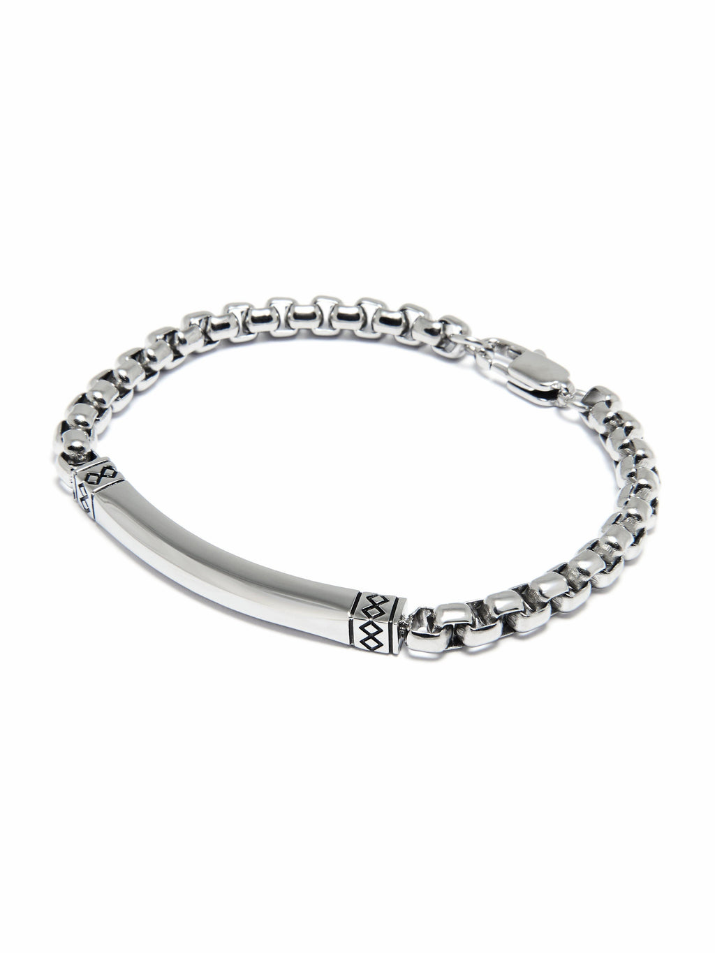 Men's Small Silver Chain Bracelet