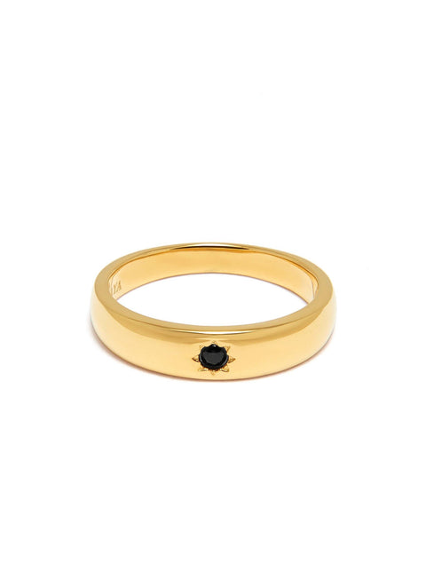 Skyfall Black CZ Band Ring
