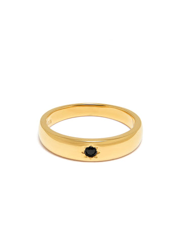 Skyfall Black CZ Band Ring - PRE ORDER