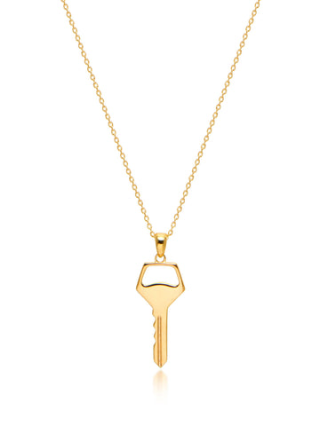 Key Necklace in Gold