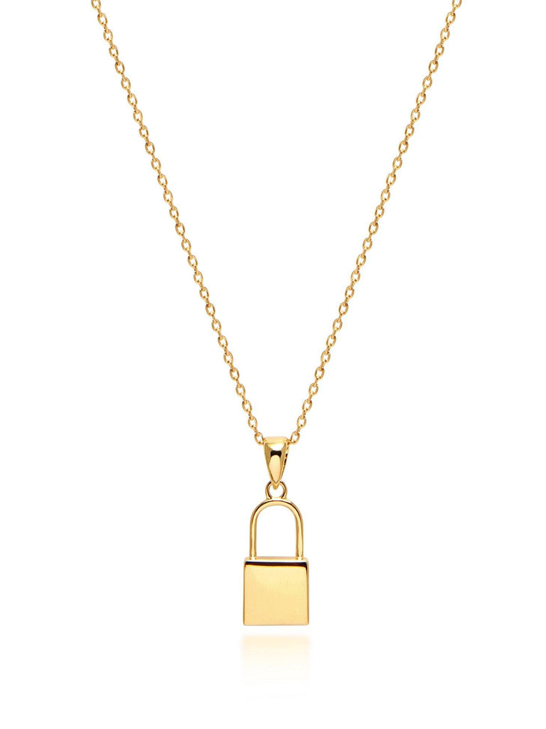 Lock Necklace in Gold
