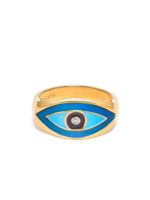 Skyfall Large Evil Eye Ring - Nialaya Jewelry