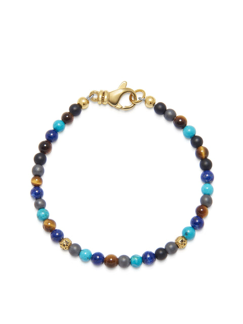 The Mykonos Collection - Turquoise, Blue Lapis, Hematite and Onyx